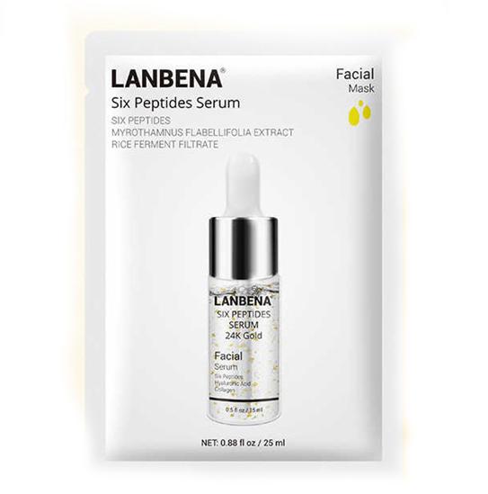 ماسک لیفت کننده تخصصی صورت سیکس پپتید لانبنا LANBENA MASK